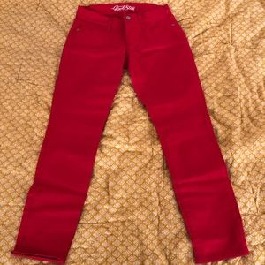 Old Navy Red Rockstar Jeans
